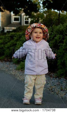 Infant Girl Goofing Around 2