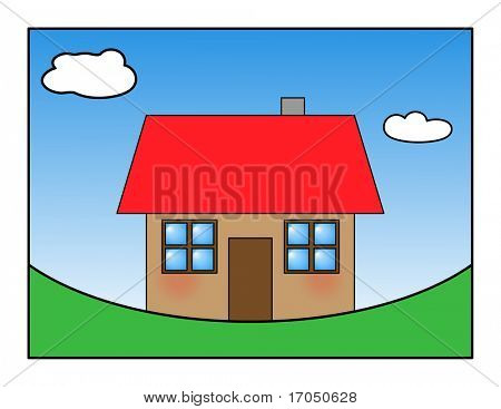 happy house illustration