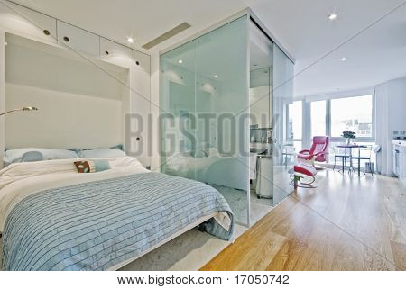 Luxury suite or studio apartment with marble
