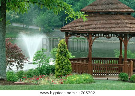 Gazebo On The Pond