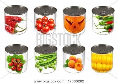 Colección de varias latas