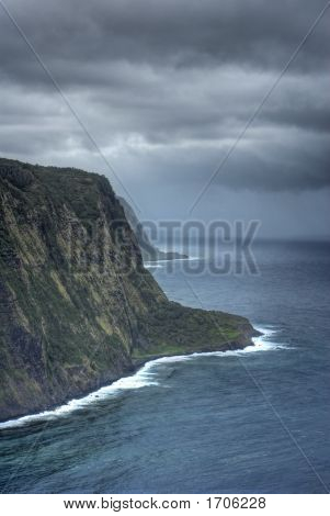 Overview Of Hawaiian Coastline.