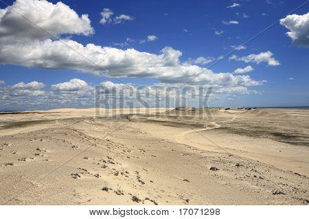 sand dune of tatajuba near jericoacoara in ceara state in brazil