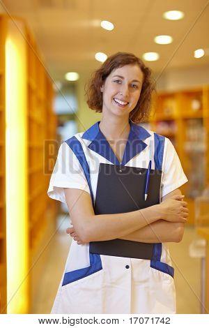 Pharmacist Holding Clipboard