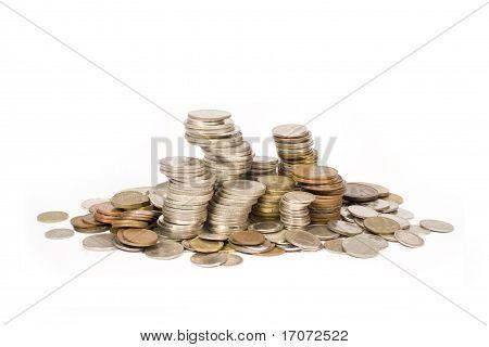Coins pile