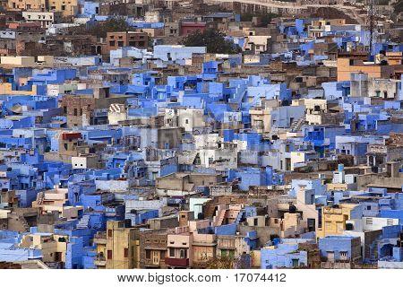 casa azul en la hermosa ciudad de jodhpur, en el estado de rajasthan en indi