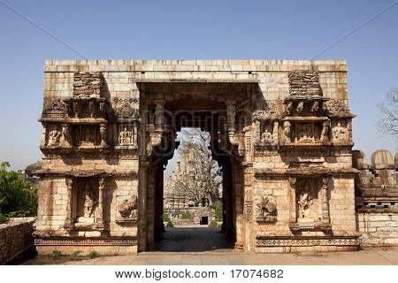 inside the Chittorgarh fort aera in rajasthan state in india