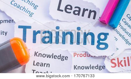 poster of Training banner,Training for learn,skill ,productivity, capacity building, knowledge, development