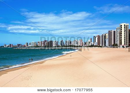 beach of Fortaleza in ceara state brazil