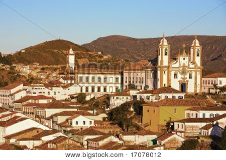 view of the igreja de nossa senhora do carmo of the unesco world heritage city of ouro preto in minas gerais brazil