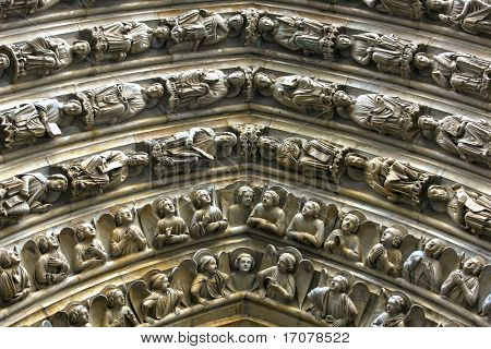 Notre Dame de Paris Last Judgment Portal detaile