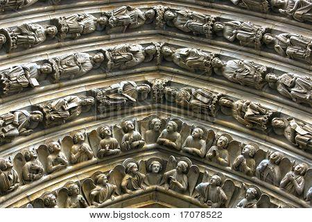 Notre Dame de Paris Last Judgment Portal detaile