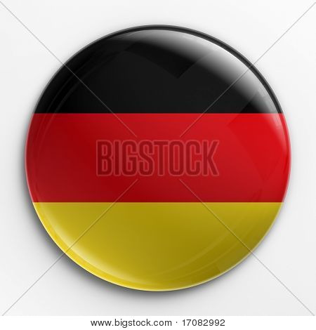 3d rendering of a badge with the German flag