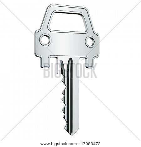 3d rendering of a car key