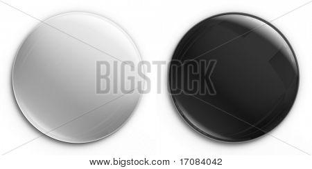 3d rendering of an empty badge