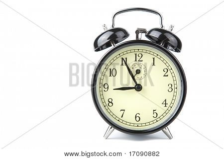 alarm clock isolated over white