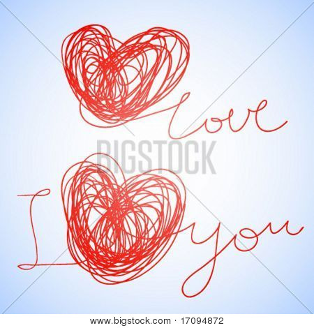 I love you - Vector stylish text