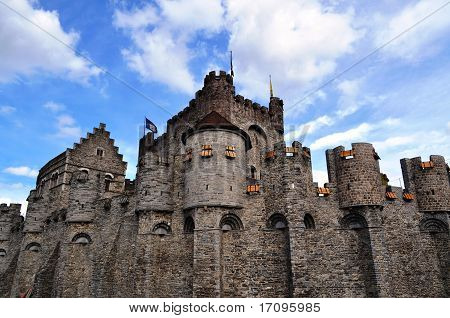 "The ""Gravensteen"", a castle  in Gent, Belgium"