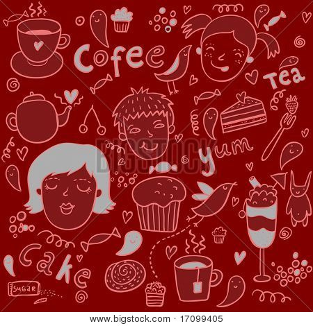 Tasty cartoon seamless pattern