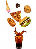 pic of junk food  - Junk food abstraction - JPG