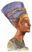 stock photo of nefertiti  - Painting portrait illustration of ancient queen nefertiti - JPG