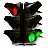 foto of traffic light  - 3d rendering traffic light - JPG