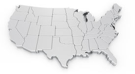 image of usa map  - 3d rendering of a map of USA - JPG
