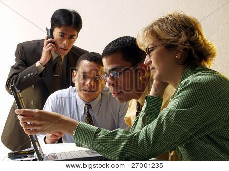 Business team working together in an office.