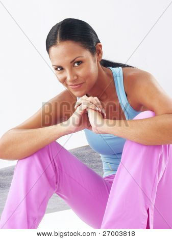 Fitness young woman portrait.