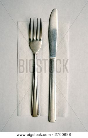 Cheap Silverware And Napkin