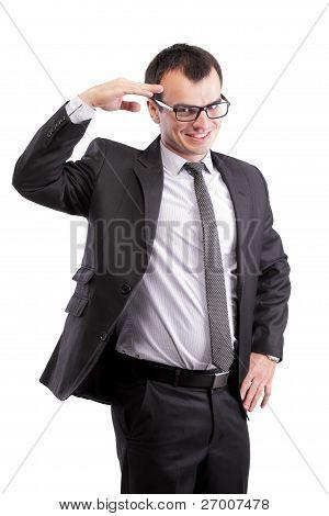 Affirmative Businessman