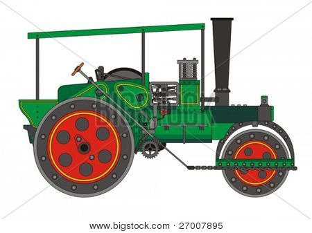 Steamroller steam roller vector
