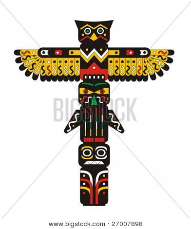 Totem pole Indian vector