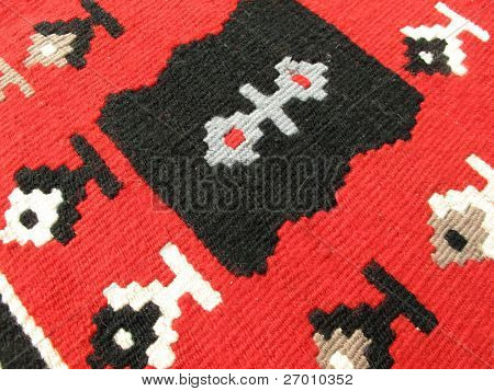 Carpet traditional ethnic pattern