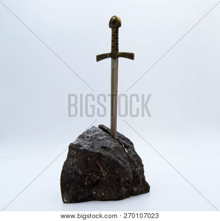 The Excalibur Sword Isolated On