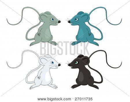Mouse cartoon vector illustration