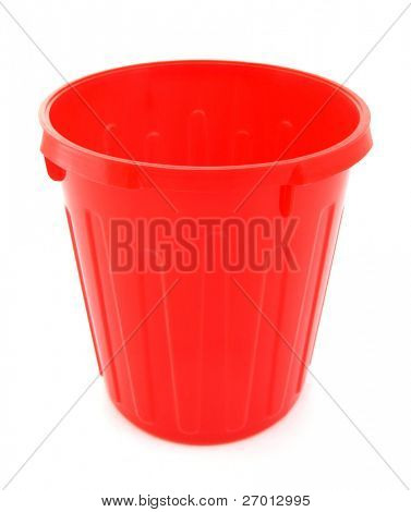 Trash can plastic red