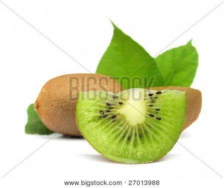Kiwifruit kiwi fruit with green leaves