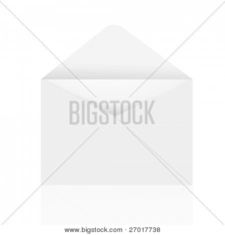 Open Envelope on white background