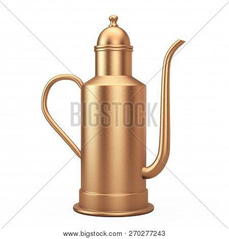 Rare Antique Brass Cooper Teapot