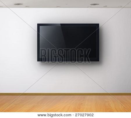 3d TV in the  white room