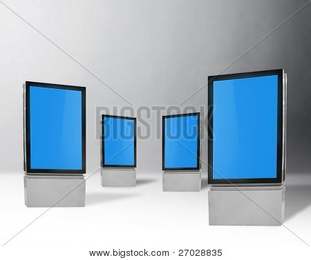 blank vertical billboards