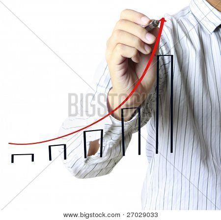 Постер, плакат: Мужская рука рисование граф, холст на подрамнике