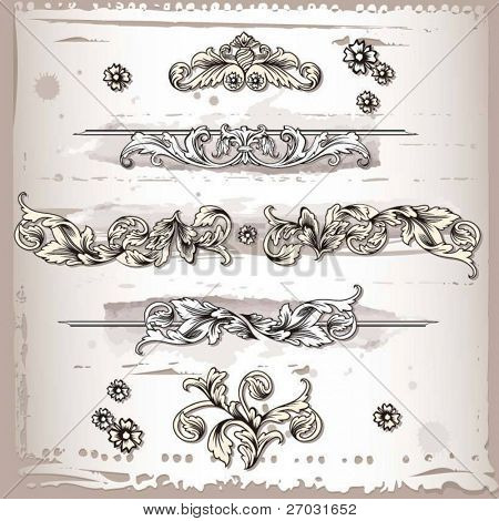 flourishes decoration elements