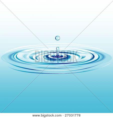 fallende Wassertropfen