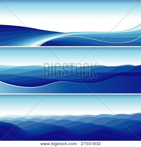 abstract flowing wave