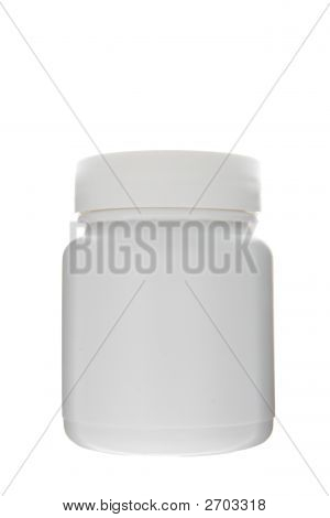 White Can For Pills