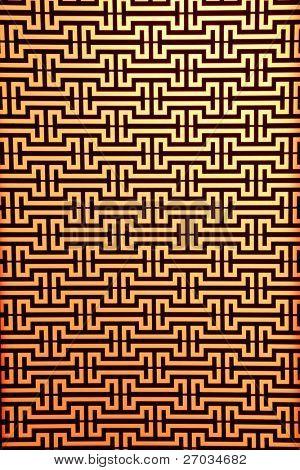 widows steel rod pattern on orange