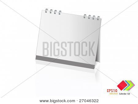 A set of colorful calendar with blank space. Vector illustration. (white)