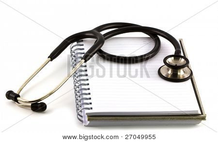 stethoscope on a pile of books